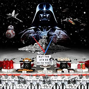 Star Wars Backdrop | for Boy | Birthday | Party Supplies | Banner | Photography | Background | Decorations | Photo
