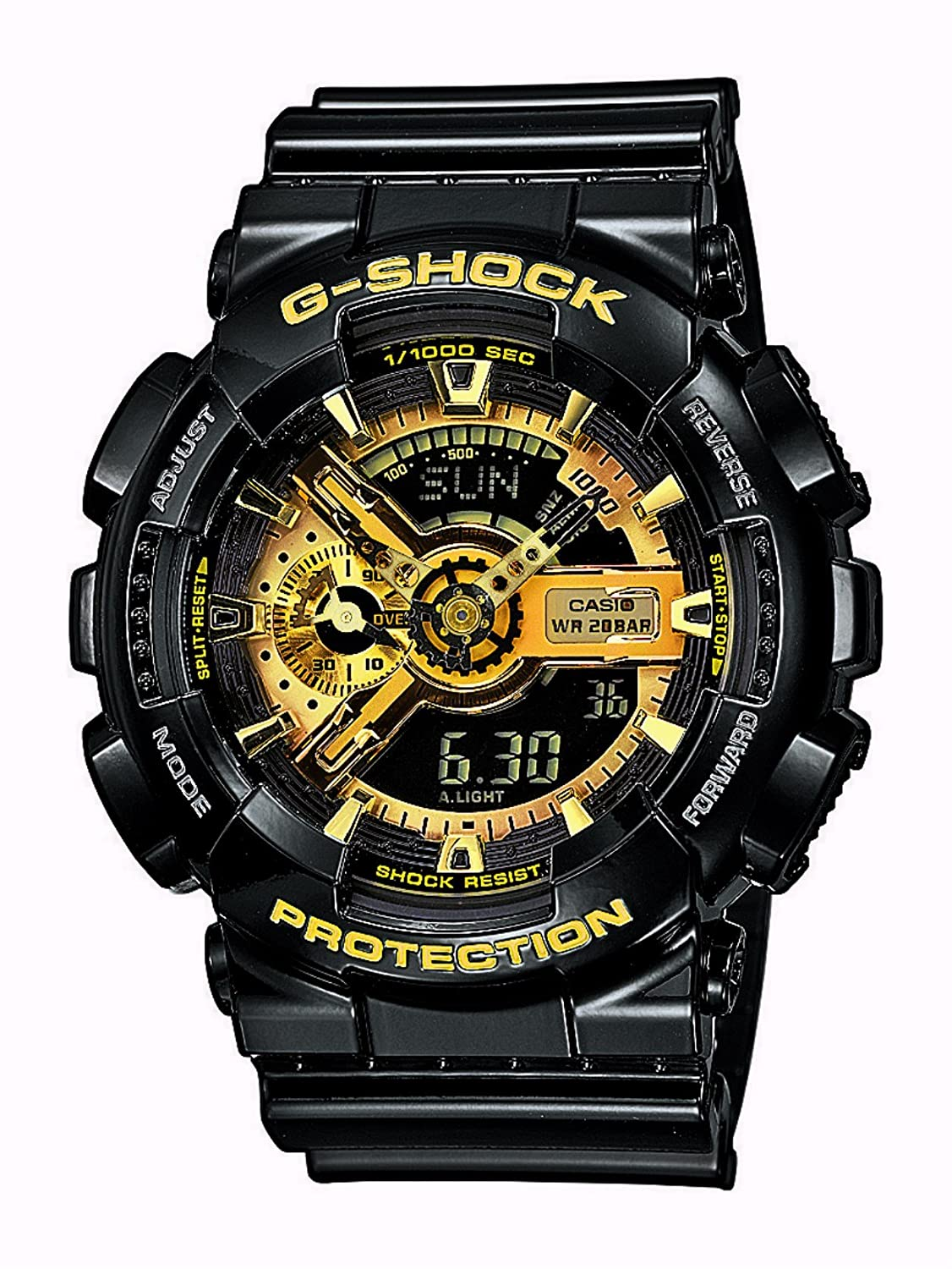 Casio Herren-Armbanduhr XL G-Shock Style Series Chronograph Quarz Resin GA-110GB-1AER