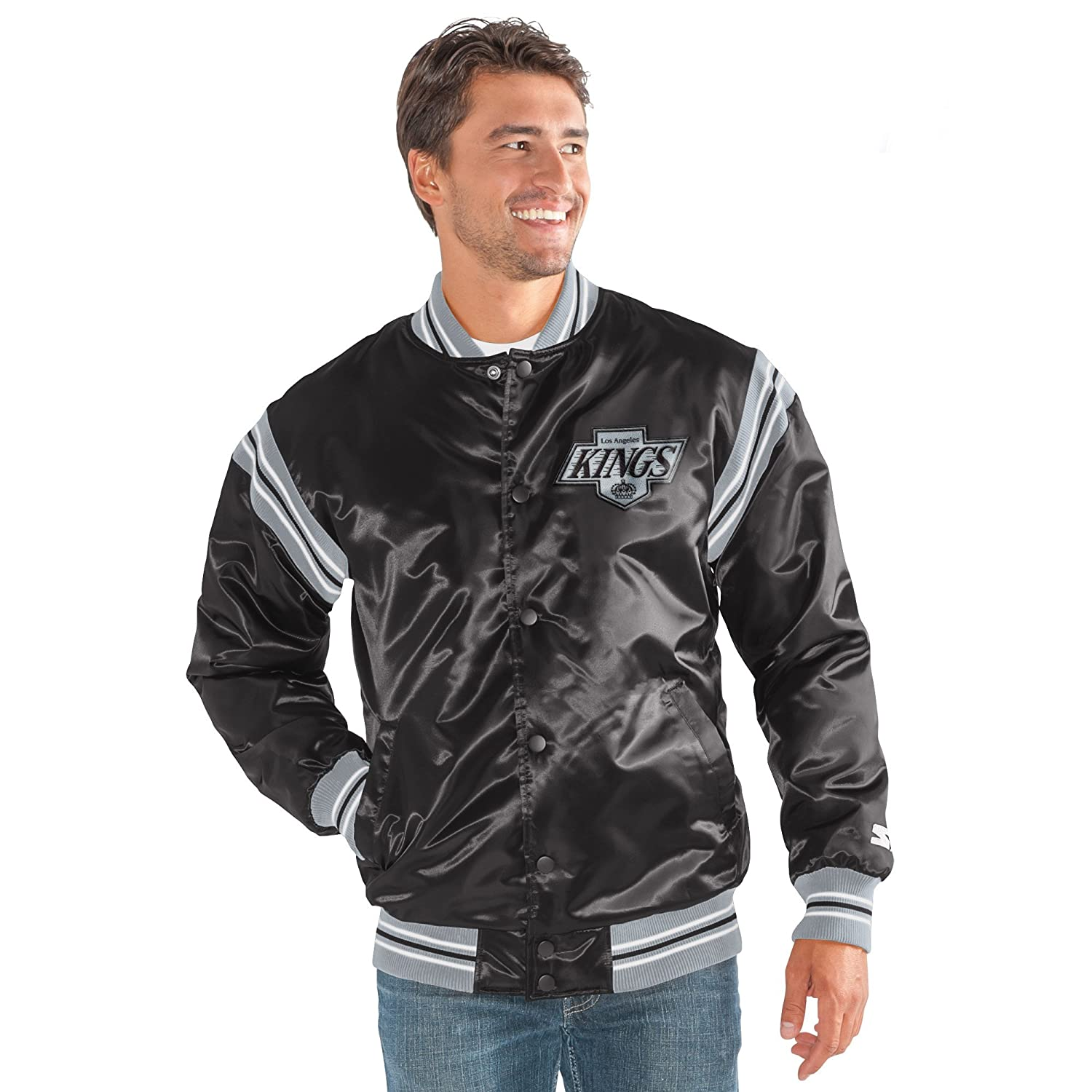 6ddb08606 Amazon.com   STARTER NHL Men s Varsity Bomber Jacket   Sports   Outdoors