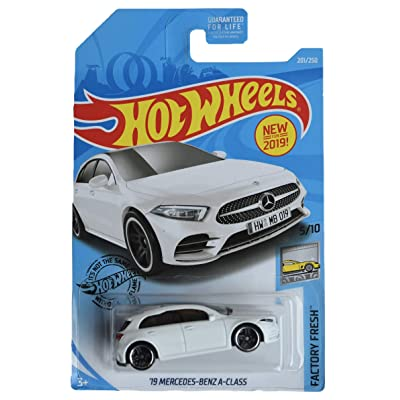 Hot Wheels Factory Fresh Series 5/10 '19 Mercedes Benz A Class 201/250, White: Toys & Games