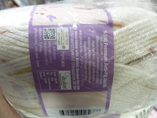 Amazon.com: Yarn for Baby Blankets Soft Acrylic NAKO Renkli Masal 100% Anti-Pill Acrylic Yarn for Crochet, Knitting & Crafting Lot of 4skn 400gr 720yds ...