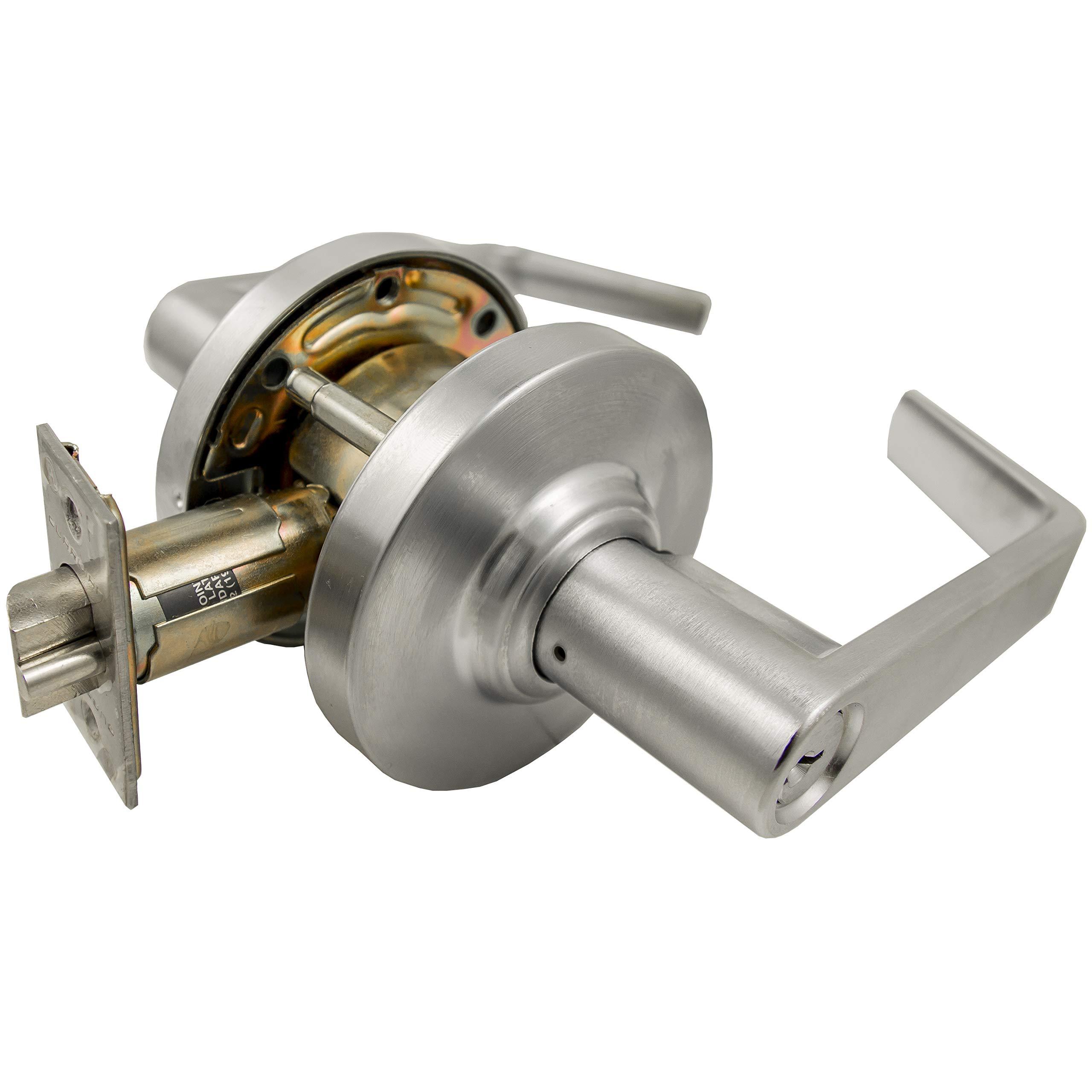 K2G Commercial Door Lever Lock Handle Grade 2 Heavy Duty Keyed Entry 26D
