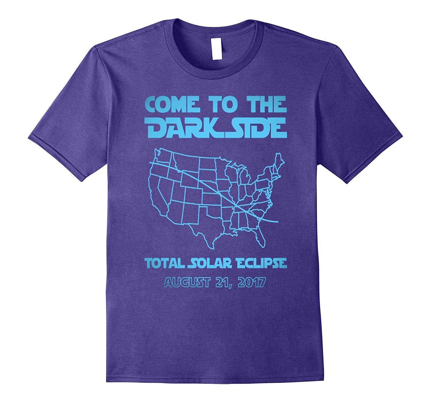 come to the dark side total solar ecliipse Astronomi t-shirt-Art