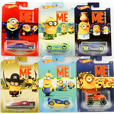 Set of 6 2020 Hot Wheels Despicable Me Minion Made Movie 1/6 2/6 3/6 4/6 5/6 6/6: Toys & Games