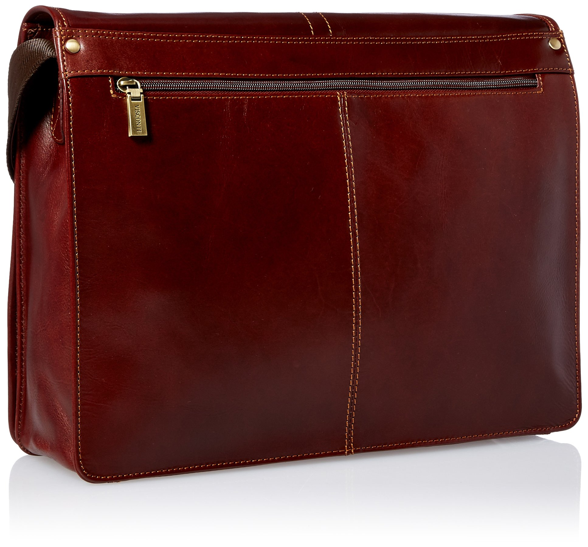 Visconti Vintage-7 Veg Tan Brown Soft Leather Messenger Bag Case, Brown, One Size by Visconti (Image #2)