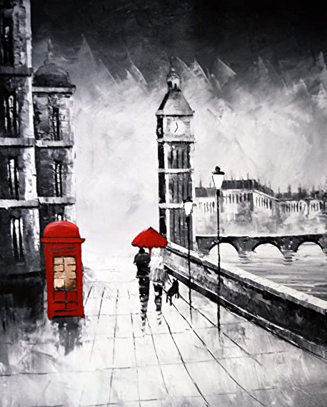 Brilliant streets of london canvas print city of london romantic walkway scene art