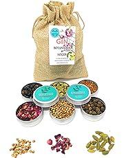 GIn Botanicals & Spices–Set regalo guarnire il vostro Gin Tonic con 6diversi Botanicals | versare si Gin Tonic Cocktail | Contiene Coriandolo, Ginepro Bacche, Piment, Petali, Kassie e cardamomo