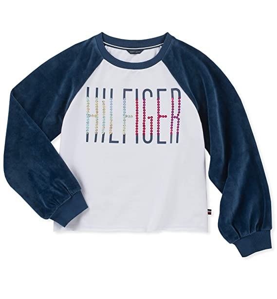 Amazon.com: Tommy Hilfiger - Sudadera para niña: Clothing