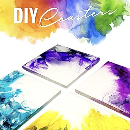 Round Use with Alcohol Ink or Acrylic Pouring Make Your Own DIY Coasters Unglazed Ceramic Tiles for Crafts 12PCS Un-Glazed White Tiles with Cork Backing Pads