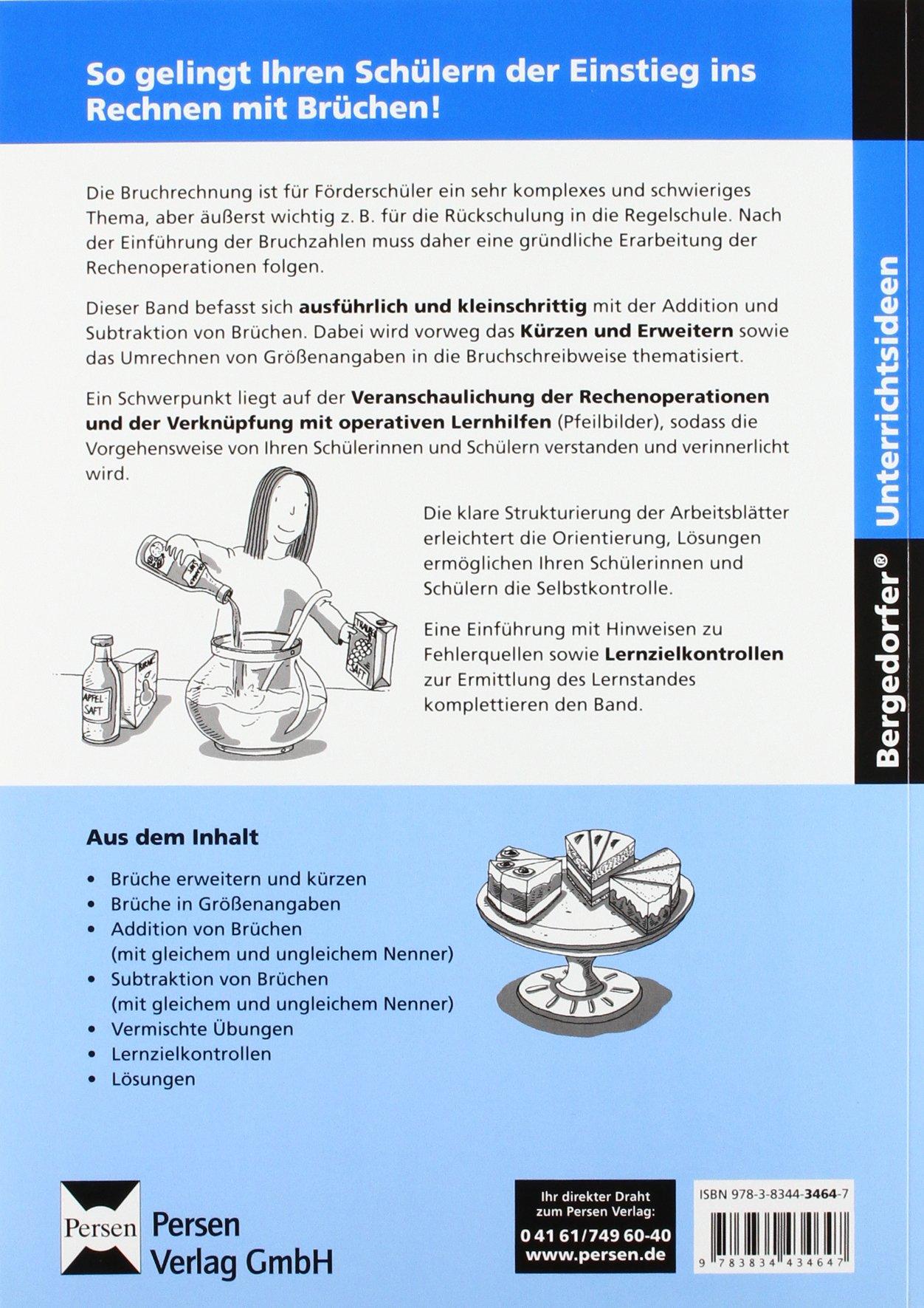 Bruchrechnung in kleinen Schritten 2: Addition und Subtraktion von ...