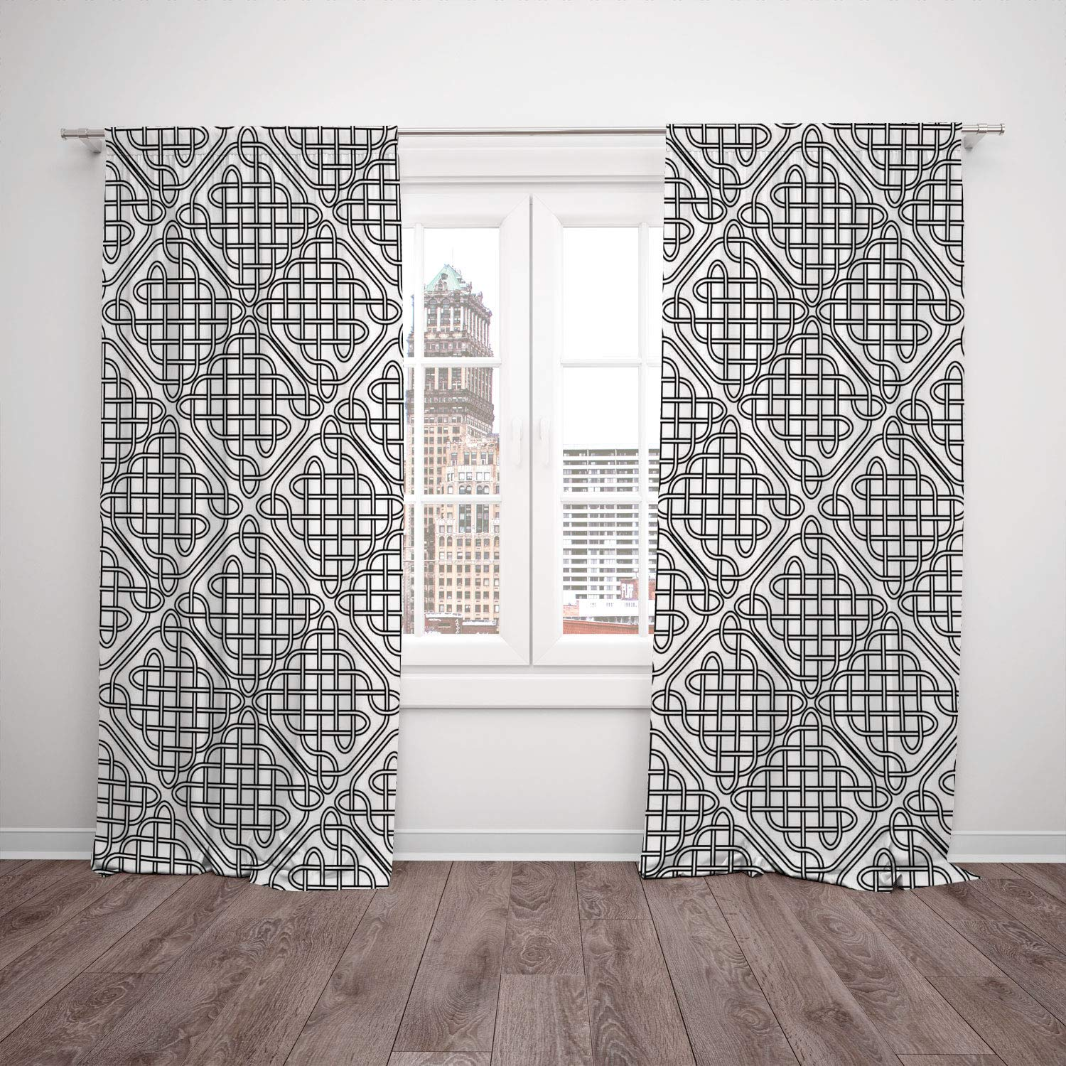 Outstanding Amazon Com Satin Window Drapes Kitchen Curtains Celtic Interior Design Ideas Apansoteloinfo