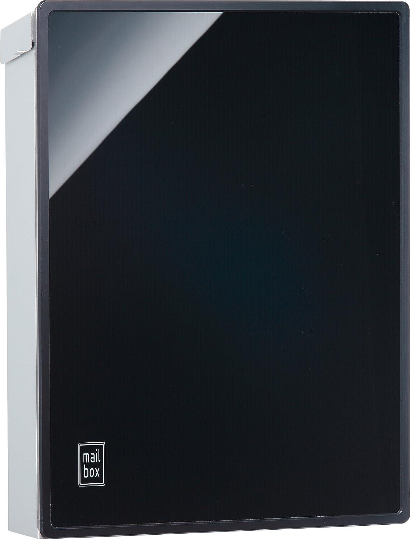 ユニソン(UNISON) 壁付ポスト プラスト  左開きタイプ  ブラック  ブラック B01IH1H8M6