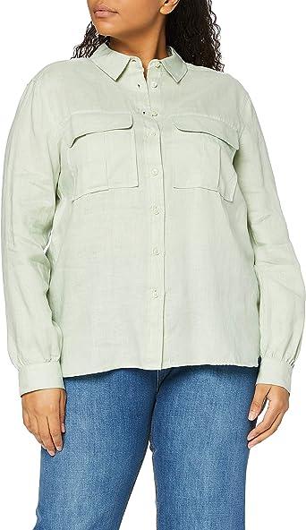 find. Camisa de Manga Larga de Lino Oversized Mujer