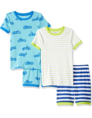 11116c275 Amazon Essentials Toddler and Kids' 4-Piece Short Sleeve Pajama Set. #2