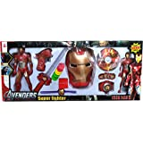 RV Media 9 in 1 Iron Man Action Figure and Mask Set