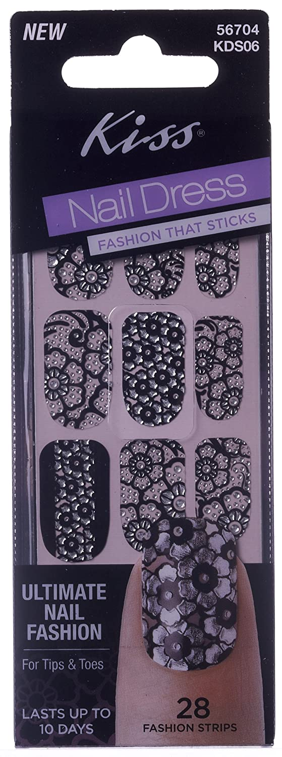 Amazon.com : Kiss Kds06 Bustier Bustier Nail Strips : Beauty
