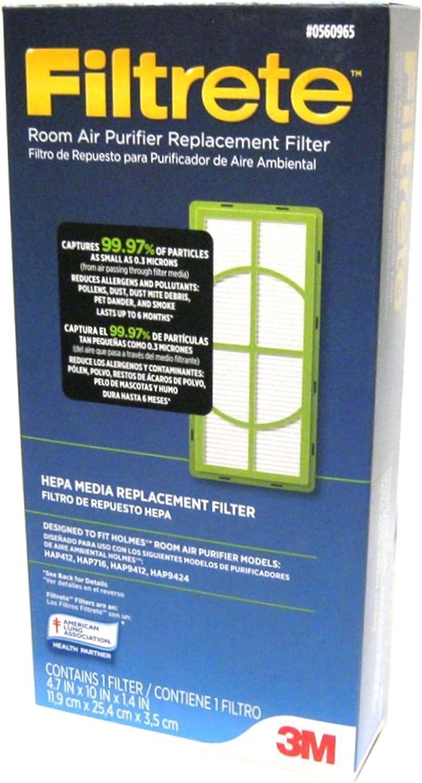 0560965 habitación Filtrete purificador de aire Filtro de repuesto ...