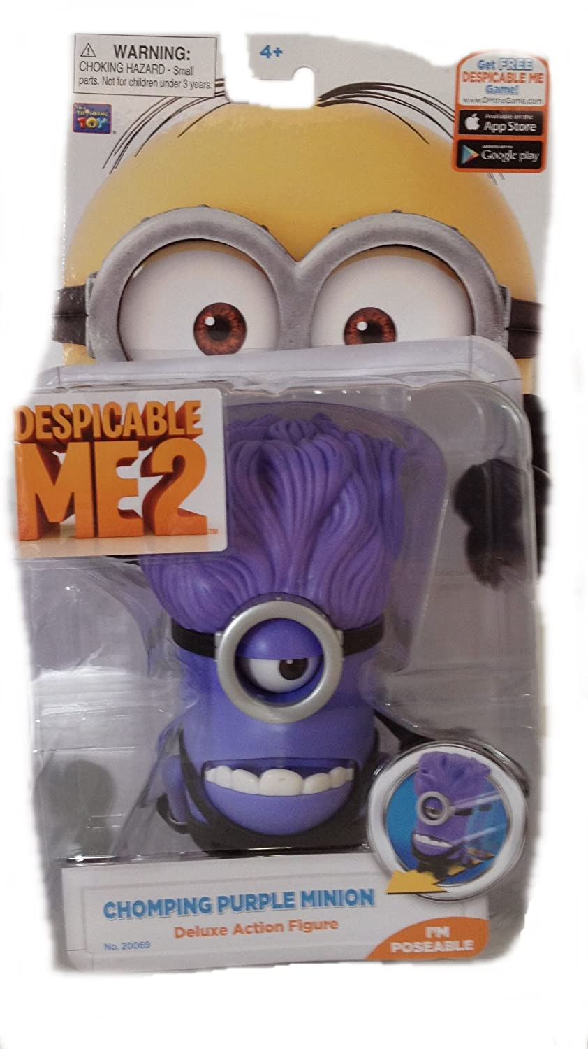 Despicable Me 2 - Deluxe Action Figure - Chomping lila Minion