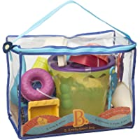 B. toys - B. Ready Beach Bag with Mesh Panel and 11 Funky Sand Toys