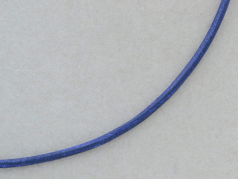 Royalblaues Lederband 2mm mit 925/- Silber Verschluss