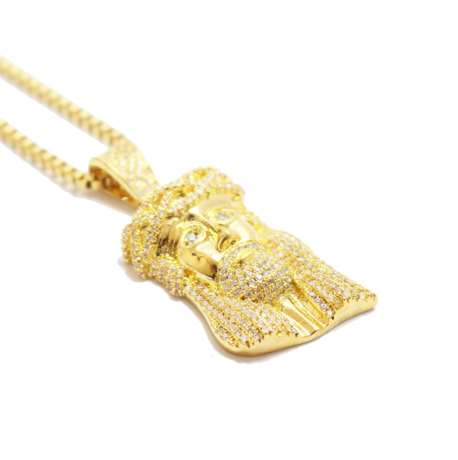 products necklace piece supply jesus gold cz pendant the