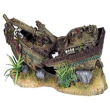 Pet Ting Adorno acuático para decoración de Acuario con diseño de naufragio pequeño para Mascotas - decoración de Acuario - Vivario: Amazon.es: Productos ...