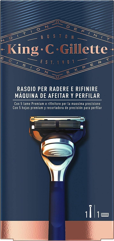King C Gillette Máquina de Afeitar con Precision Integrada + 1 Cuchilla de Recambio
