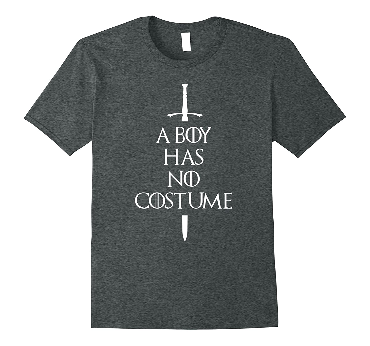 A Boy Has No Costume Funny Halloween Outfit Shirt-T-Shirt