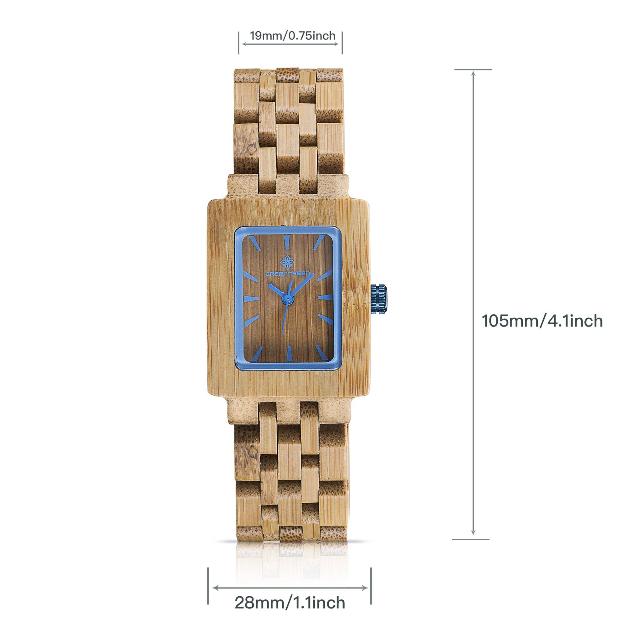 Amexi Bambus Damenuhr Kirschholz Uhren Braun