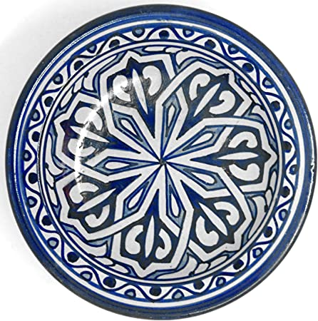 Assiette orientale Fes Beldi 18 cm en c/éramique color/ée marocaine multicolore en c/éramique Maroc Grand bol plat en c/éramique peint /à la main Orient