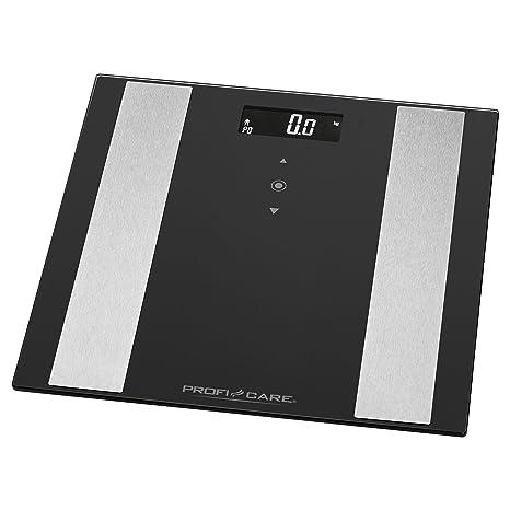ProfiCare PW 3007 - Báscula baño digital con análisis corporal de 8 funciones diagnóstico, color