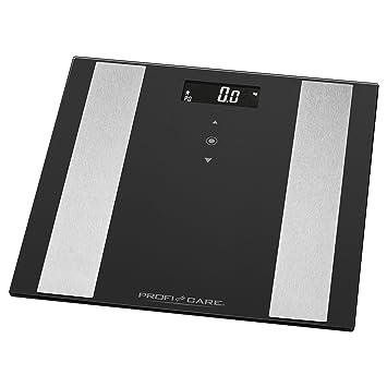ProfiCare PW 3007 - Báscula baño digital con análisis corporal de 8 funciones diagnóstico, color negro inox: Amazon.es: Salud y cuidado personal