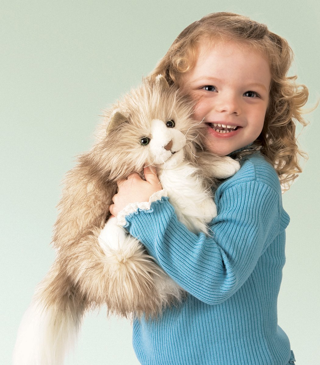Amazon.com: Folkmanis Fluffy Cat Hand Puppet: Toys & Games