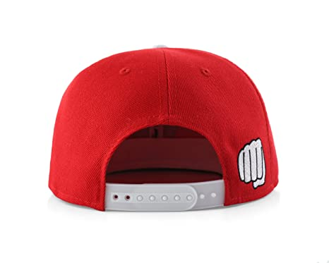 Amazon.com: True Heads OK Emoji Red Hat Snapback Baseball Cap: Sports & Outdoors