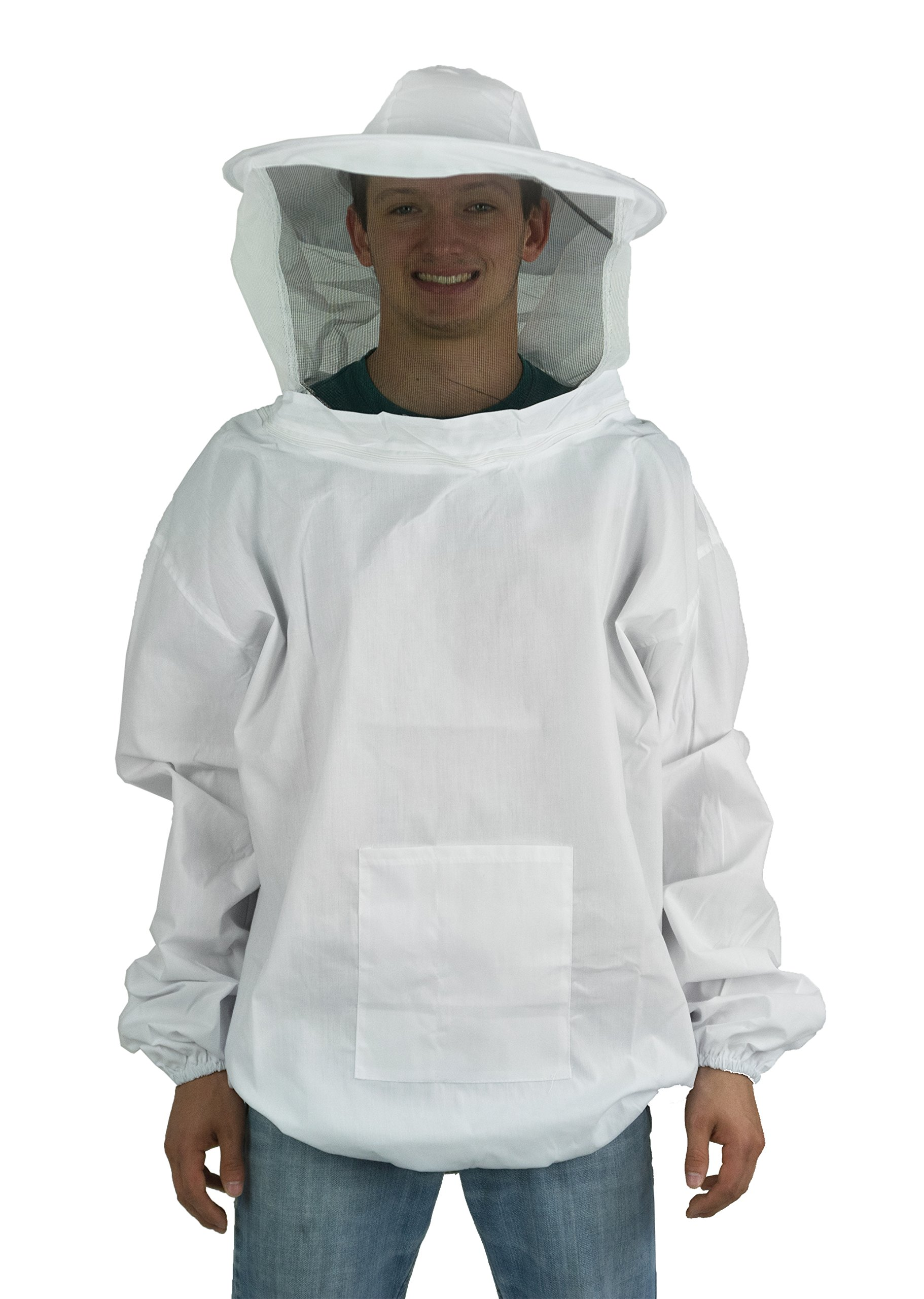VIVO New Professional White Medium/Large Beekeeping/Bee Keeping Suit, Jacket, Pull Over, Smock with a Veil by (BEE-V105)