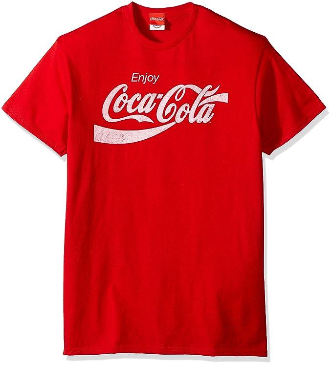 ffbe6786 Amazon.com: Coca-Cola Men's Eighties Coke Short Sleeve T-Shirt: Clothing