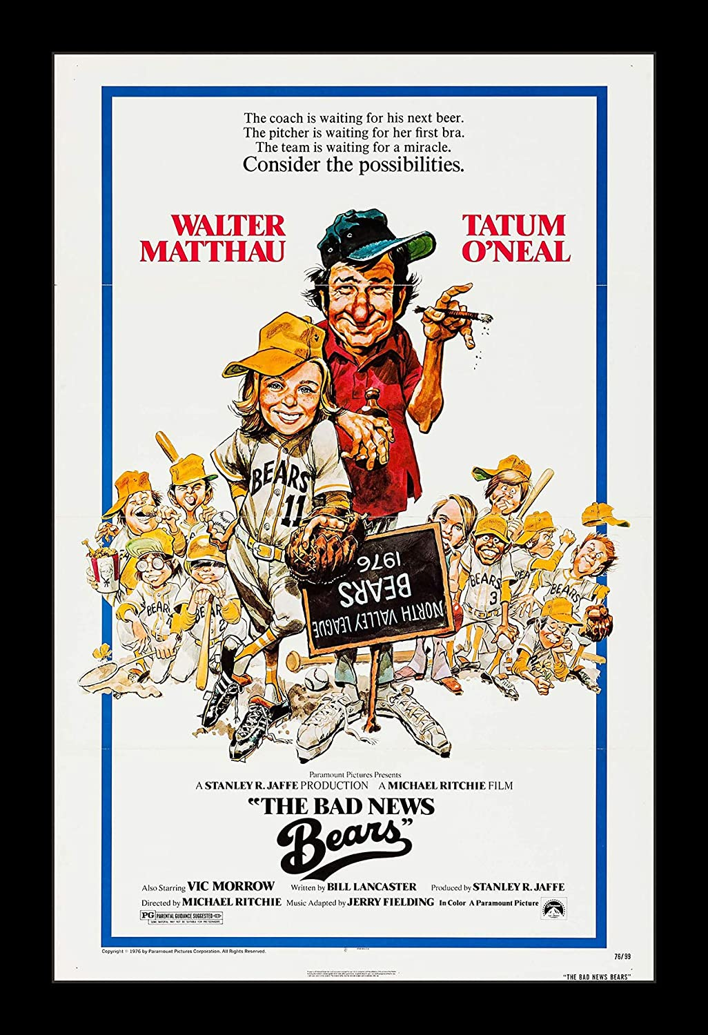 Wallspace 11x17 Framed Movie Poster - The Bad News Bears