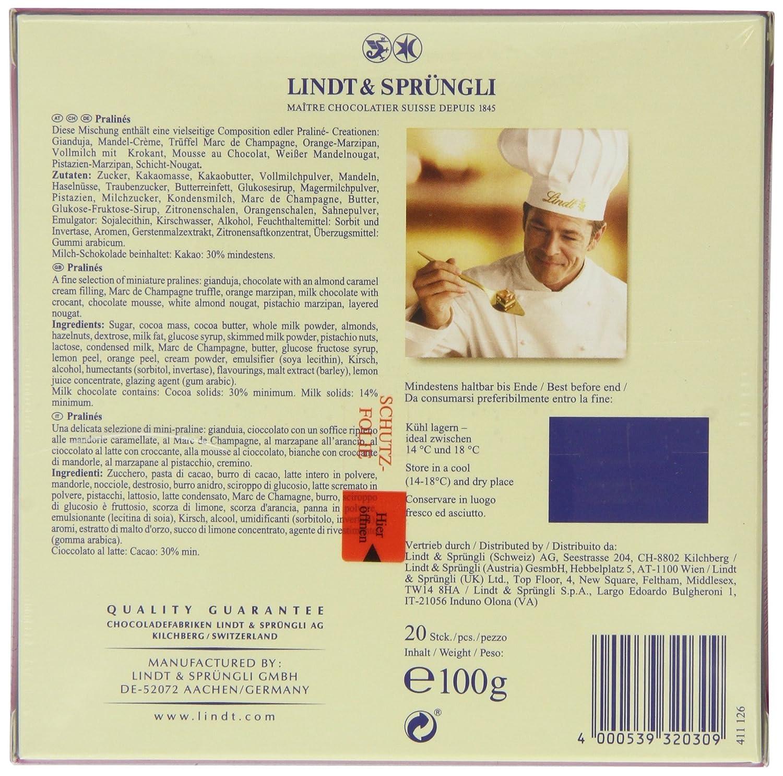 Lindt, Pralinés y trufa de chocolate - 4 de 100 gr. (Total 400 gr.): Amazon.es: Alimentación y bebidas