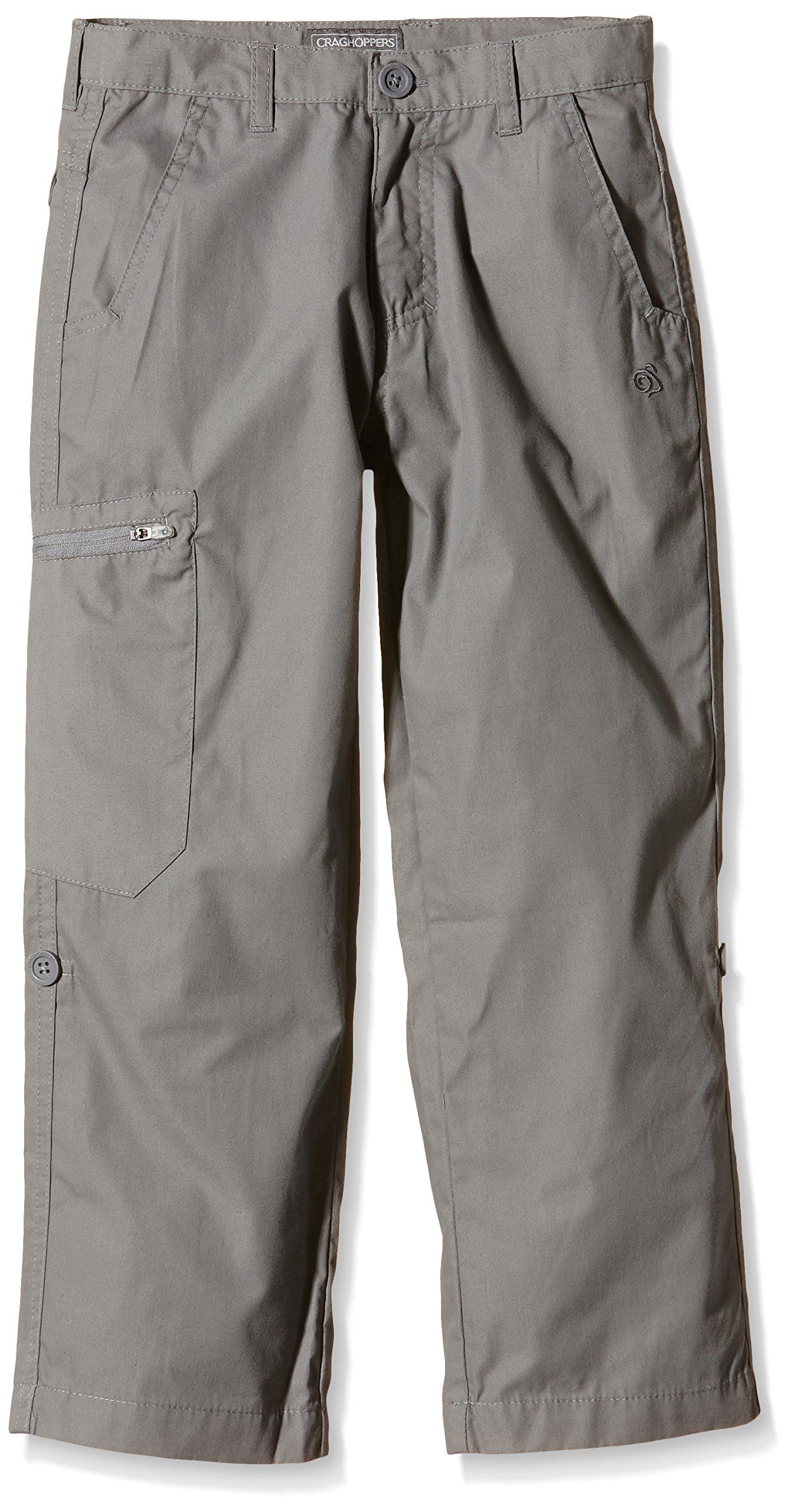 Craghoppers Kids Kiwi Trousers Pants, Platinum, Size 7-8