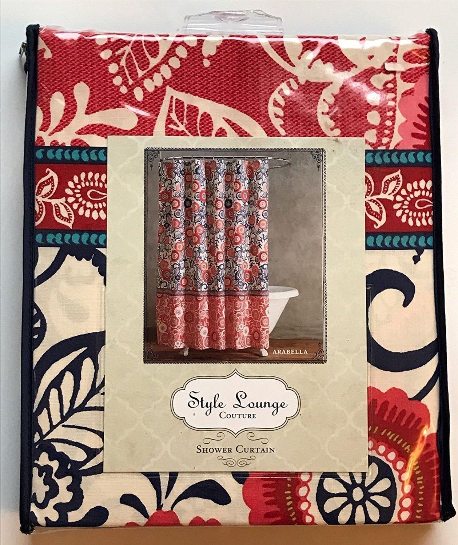 style lounge shower curtain. Amazon com  Arabella Shower Curtain by Style Lounge Coral 72 inch Home Kitchen