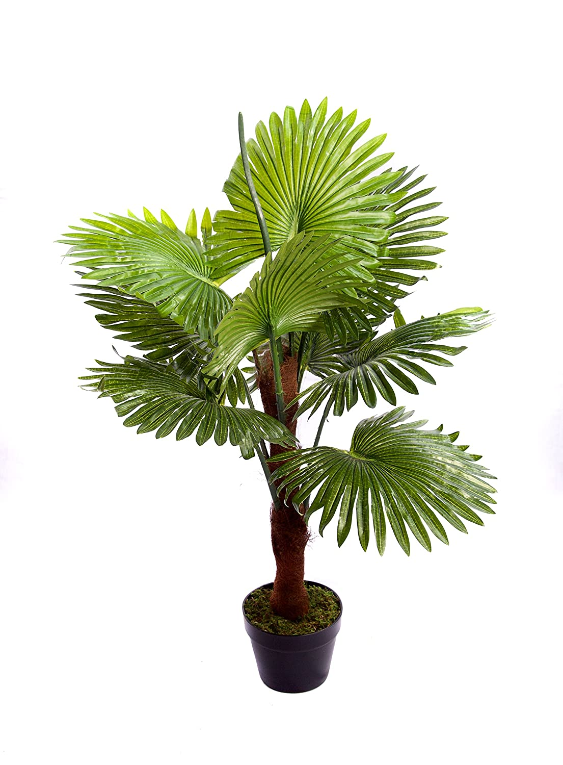 Best Artificial 90cm 3ft Fan Palm Tree Outdoor Indoor Tropical Conservatory Office Garden Plant