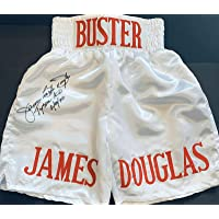 """$181 » JAMES BUSTER DOUGLAS""""TYSON KO 2-11-90"""" XL Signed BOXING TRUNKS SHORTS - JSA Certified - Autographed Boxing Robes and Trunks"""