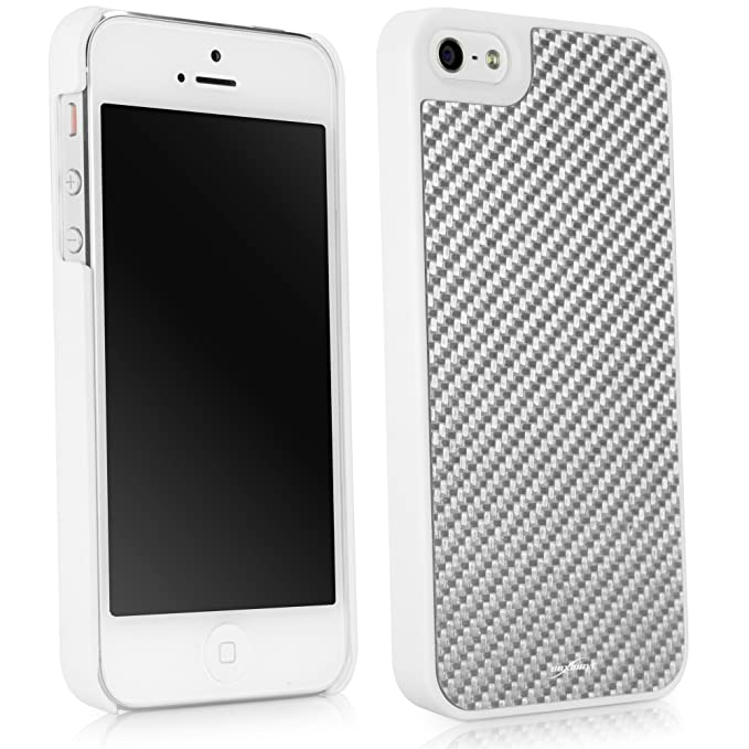 the best attitude 80a98 c9beb iPhone 5s Case, BoxWave [True Carbon Fiber Minimus Case] Ultra-Strong, Hard  Shell Cover for Apple iPhone 5s, 5 - Winter White