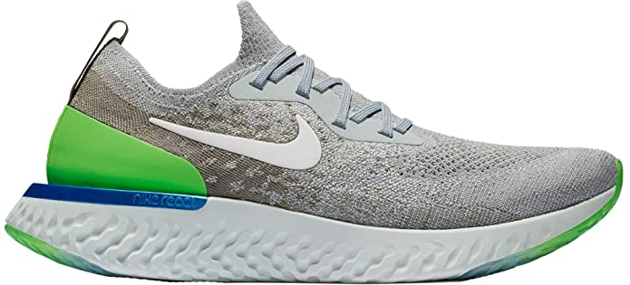 quality design 816fb 300aa Amazon.com   NIKE Men s Epic React Flyknit Running Shoes (Wolf Grey Lime  Blast Stucco, 11.5 M US)   Road Running