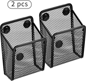Magnetic Pencil Holder, Mesh Storage Baskets with Magnets to Hold Whiteboard/Refrigerator/Locker Accessories (2 Packs)