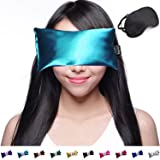 Hot Cold Unscented Eye Pillow and Eye Mask for Sleep, Yoga, Migraine Headaches, Stress Relief. By Happy Wraps - Aqua