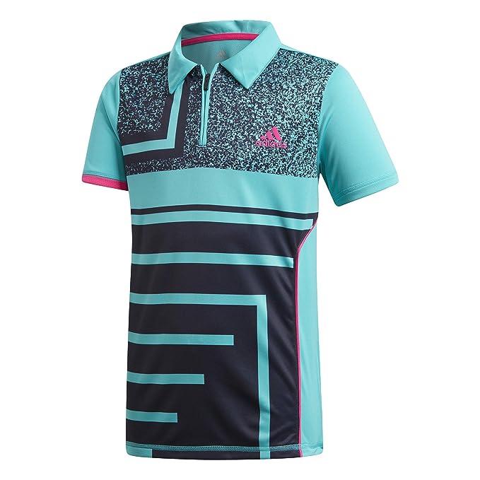db87ccd6 adidas Seasonal Junior Tennis Polo Shirt: Amazon.co.uk: Clothing