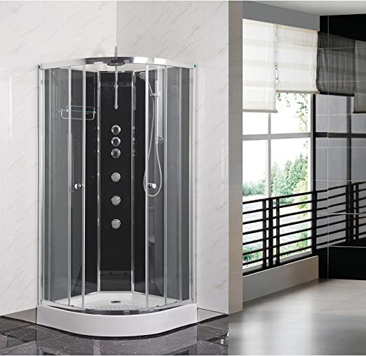 Premier OPUS04-BL Mampara de ducha, transparente, 1200x800: Amazon ...