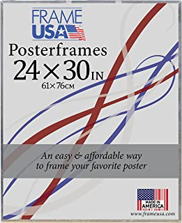 product image for Frame USA 24x30 Corrugated Backing Poster Frame (Clear) | Choose Size and Color