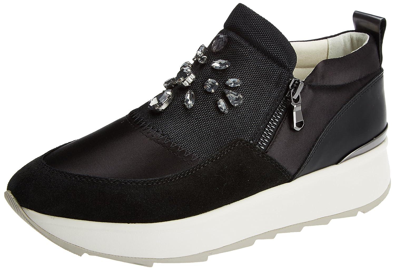 Geox D Gendry a, Zapatillas para Mujer 37 EU|Negro (Black)